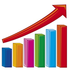 Bar graph-increase diagram vector