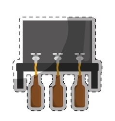 Beer dispensers icon image design vector
