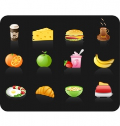 breakfast black vector image