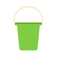 Bucket plastic white paint container isolated vector