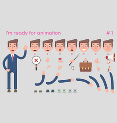 businessman character for creating scenes vector image