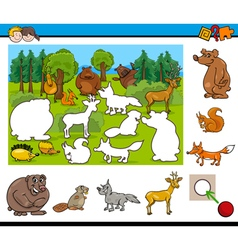 cartoon activity for kids vector image