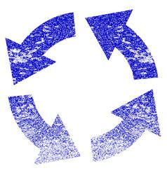 Circulation grunge textured icon vector