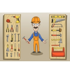 Construction worker character pack vector