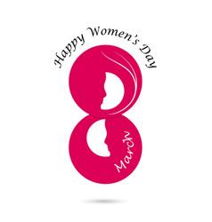 Creative 8 march logo design vector