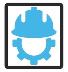 Development helmet framed icon vector