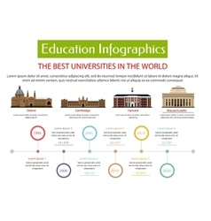 Education infographic placard template vector