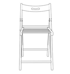 folding chair sketch vector image vector image