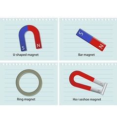 Four types of magnets vector
