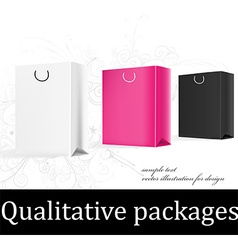 Gift bag design vector
