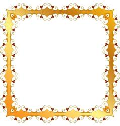 golden frame vector image