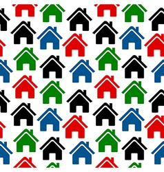 Home icon seamless pattern vector image vector image