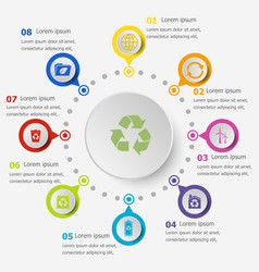 infographic template with ecology icons vector image vector image