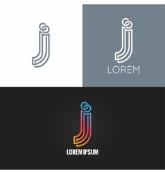 Letter j logo alphabet design icon set background vector