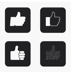 Modern thumb up icons set vector