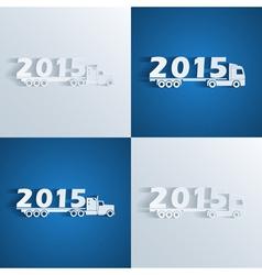 New year trucks vector