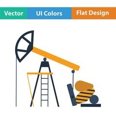 Oil pump icon vector image vector image