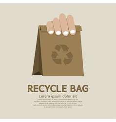 Recycle bag vector image vector image