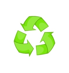 Recycling icon cartoon style vector image