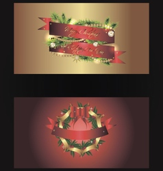 Set of two separated christmas banners vector