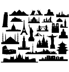 Sights of the world vector