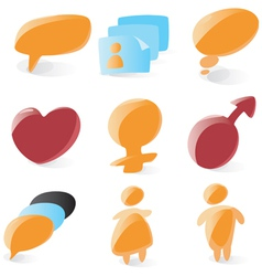 Smooth chat icons vector image vector image