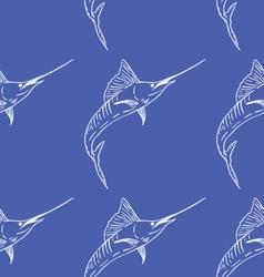 Swordfish seamless pattern vector