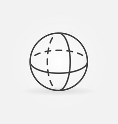 volume sphere outline icon vector image vector image