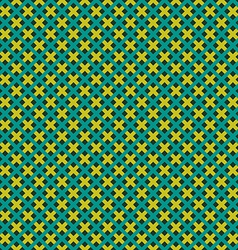 Weave seamless pattern green and yellow flat vector