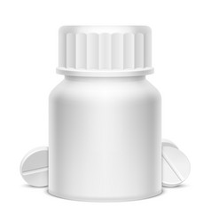 white medicine pill bottle vector image