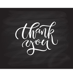 Hand sketched thank you text as logotype badge and vector