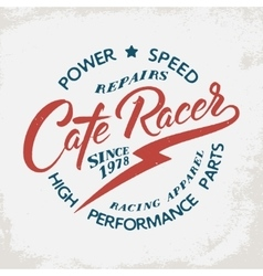 Cafe racer t-shirt print vector