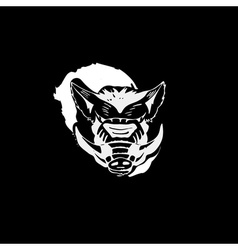 Logo symbol sign stencil boar headunique technique vector