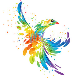 Splash fantasy bird vector