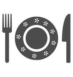 Restaurant tableware icon vector