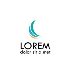 Loop business logo vector