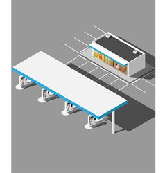 Isometric modern gas station vector