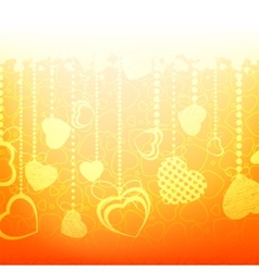 Warm abstract valentine card template eps 8 vector