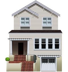A big concrete house vector