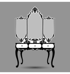 Silhouette of console mirror vector