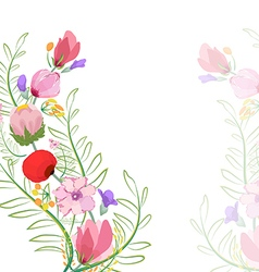 Color of flowers in watercolor paintings vector