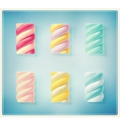 Twisted marshmallows vector