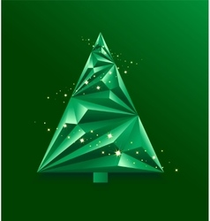 Green abstract christmas tree vector