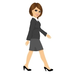 Young businesswoman walking forward vector