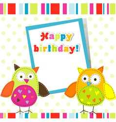 Children birthday card vector