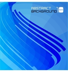 Polygonal abstract blue background vector