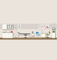 a doctor office panorama vector image