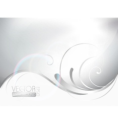 beautiful floral wave vector image vector image