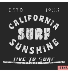 California surf vintage stamp vector image vector image