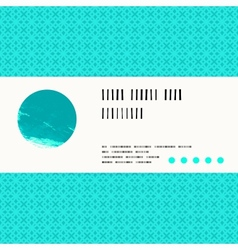 Card with watercolour circle in aqua blue vector